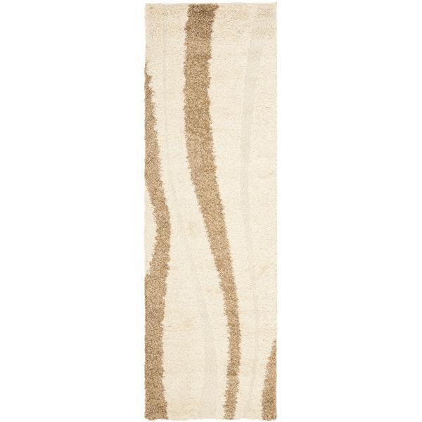 Safavieh Florida Stripe Rug - 2.3' x 7' - Polypropylene - Cream