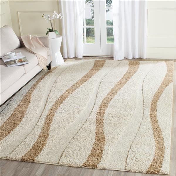 Safavieh Florida Stripe Rug - 3.3' x 5.3' - Polypropylene - Cream