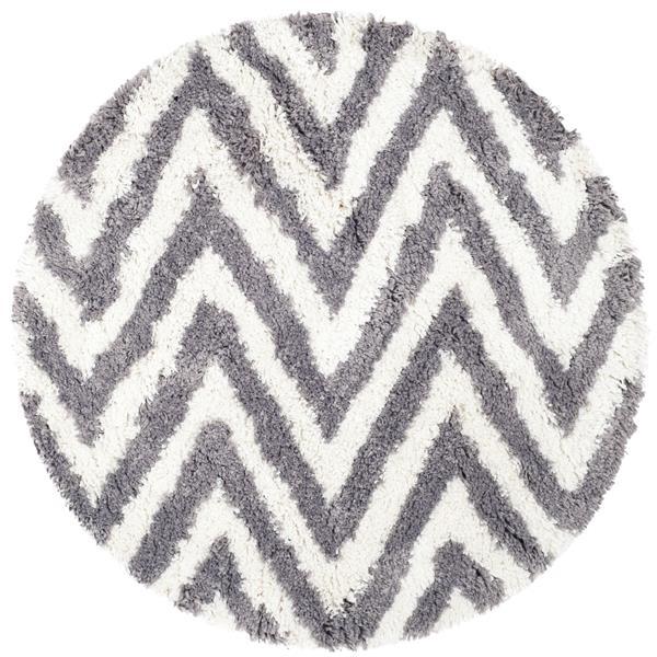 Safavieh Shag Chevron Rug - 4' x 4' - Acrylic - Gray