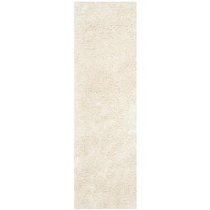 Safavieh Shag Solid Rug - 2.3' x 8' - Polyester - Ivory