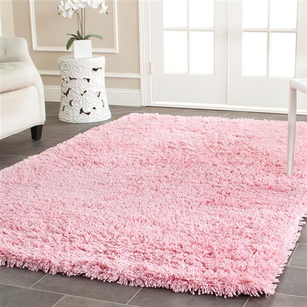 Safavieh Shag Solid Rug - 3' x 5' - Polyester - Pink