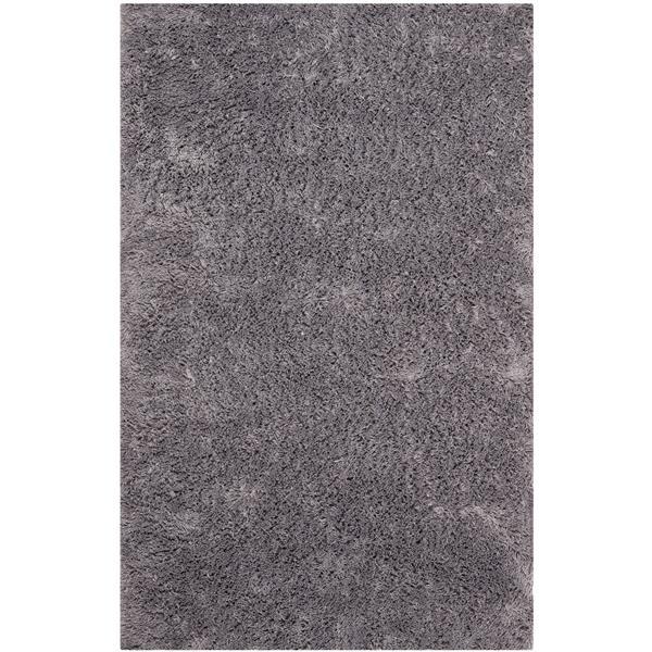 Safavieh Shag Solid Rug - 2.5' x 4' - Polyester - Gray