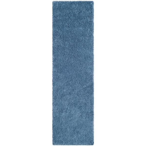 Safavieh Shag Solid Rug - 2.3' x 8' - Polyester - Light Blue