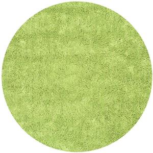 Safavieh Shag Solid Rug - 4' x 4' - Polyester - Green