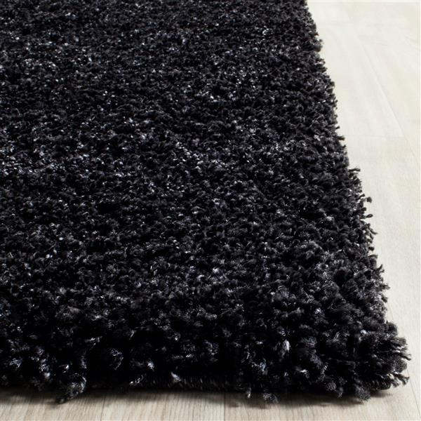 Safavieh California Solid Rug - 2.3' x 7' - Polypropylene - Black