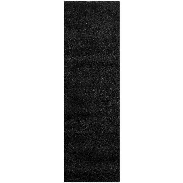 Safavieh California Solid Rug - 2.3' x 5' - Polypropylene - Black