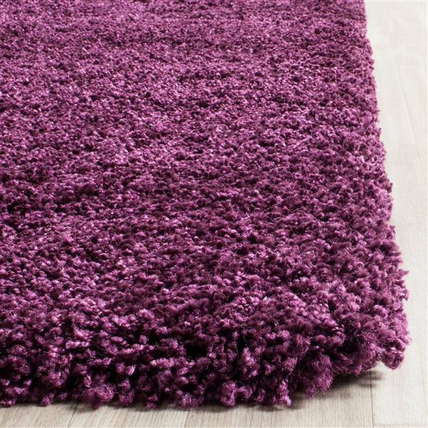 Safavieh California Solid Rug - 2.3' x 7' - Polypropylene - Purple