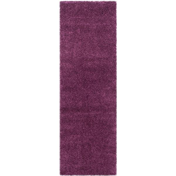 Safavieh California Solid Rug - 2.3' x 5' - Polypropylene - Purple