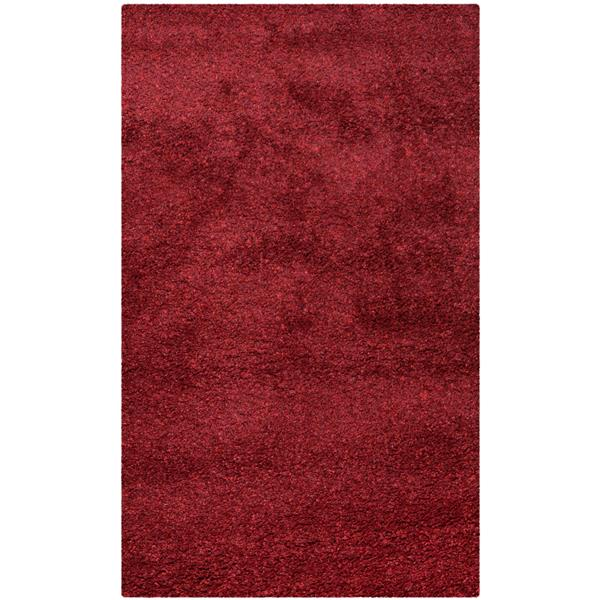 Safavieh California Solid Rug - 4' x 6' - Polypropylene - Red