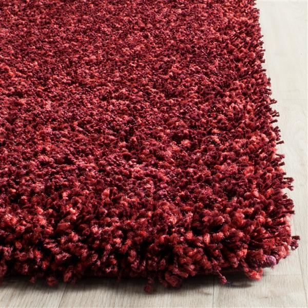 Safavieh California Solid Rug - 3' x 5' - Polypropylene - Red