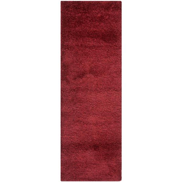 Safavieh California Solid Rug - 2.3' x 5' - Polypropylene - Red