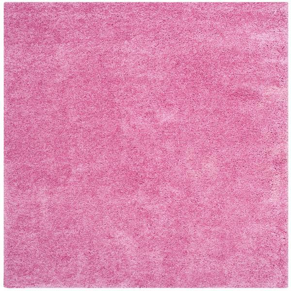 Safavieh California Solid Rug - 4' x 4' - Polypropylene - Pink