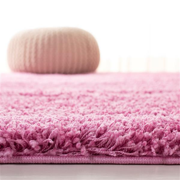 Safavieh California Solid Rug - 4' x 6' - Polypropylene - Pink