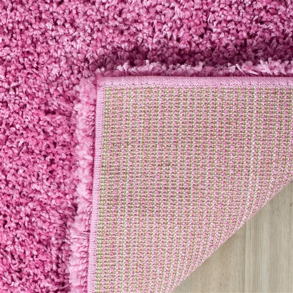 Safavieh California Solid Rug - 2.3' x 9' - Polypropylene - Pink