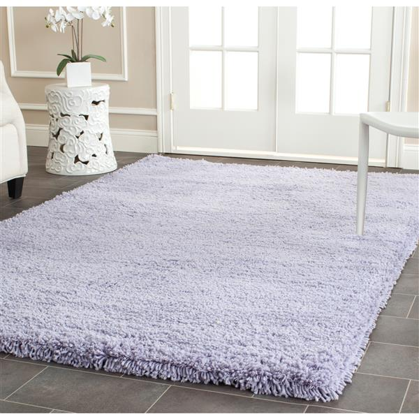 Safavieh Shag Solid Rug - 2' x 3' - Acrylic - Lilac