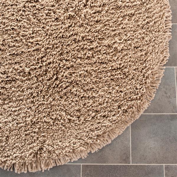 Safavieh Shag Solid Rug - 4' x 4' - Acrylic - Taupe
