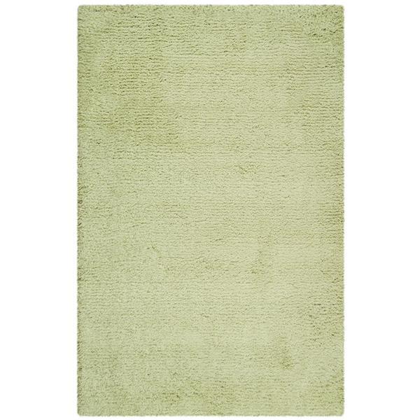 Safavieh Shag Solid Rug - 3' x 5' - Acrylic - Green