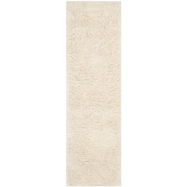 Safavieh Shag Solid Rug - 2.3' x 8' - Acrylic - Ivory