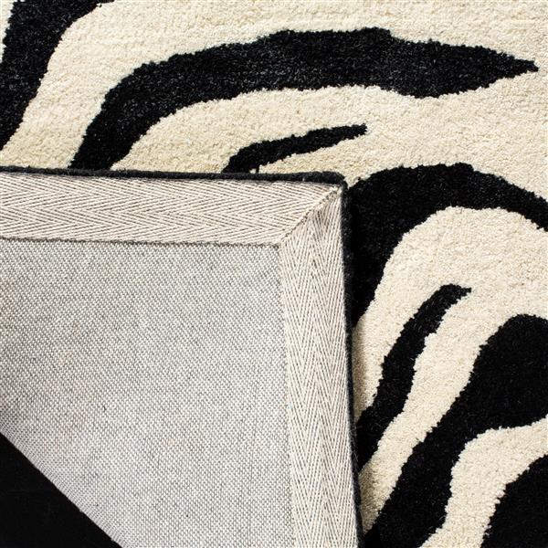 Soho Animal print Rug - 7.5' x 9.5' - Wool - Black