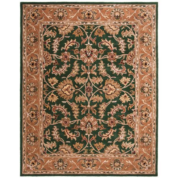 Safavieh Heritage Floral Rug - 8.3' x 11' - Wool - Dark Green