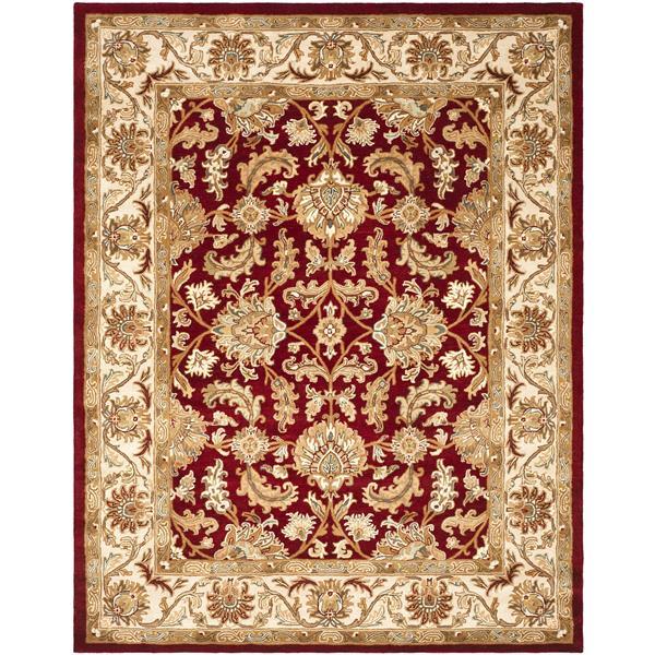 Safavieh Heritage Floral Rug - 8.3' x 11' - Wool - Ivory