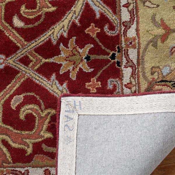 Safavieh Heritage Floral Rug - 8.3' x 11' - Wool - Red