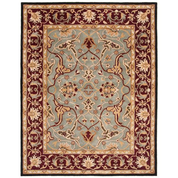 Safavieh Heritage Floral Rug - 8.3' x 11' - Wool - Light Blue