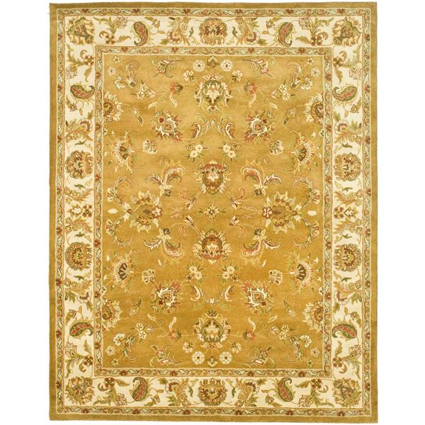 Safavieh Heritage Floral Rug - 8.3' x 11' - Wool - Gold