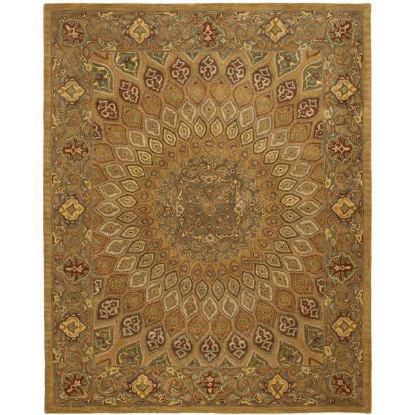 Safavieh Heritage Floral Rug - 8.3' x 11' - Wool - Light Brown