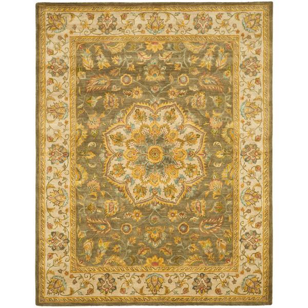 Safavieh Heritage Floral Rug - 8.3' x 11' - Wool - Green