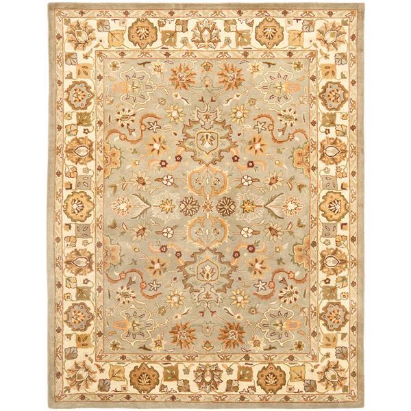 Safavieh Heritage Floral Rug - 8.3' x 11' - Wool - Beige