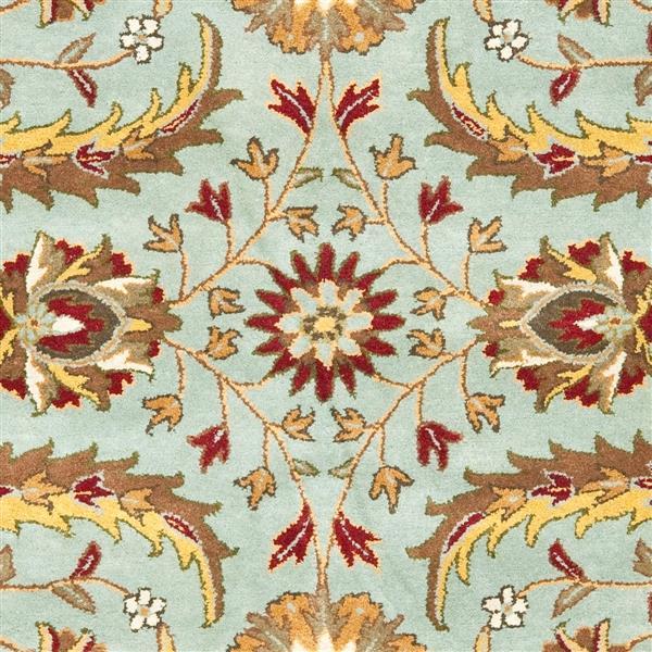 Safavieh Heritage Floral Rug - 8.3' x 11' - Wool - Blue