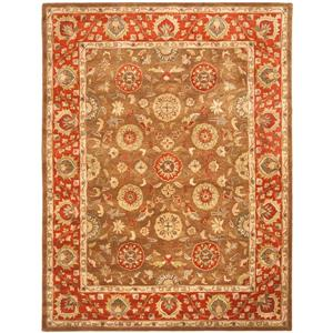Safavieh Heritage Floral Rug - 8.3' x 11' - Wool - Brown