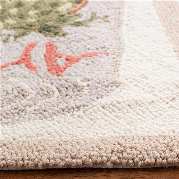 Safavieh Chelsea Rug - 8.8' x 11.8' - Wool - Ivory