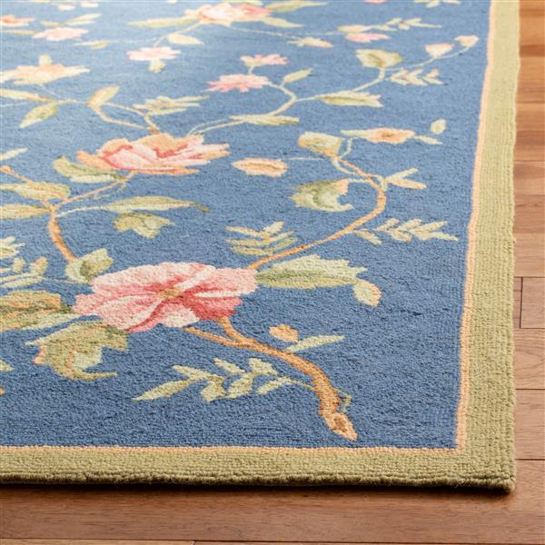 Safavieh Chelsea Floral Rug - 8.8' x 11.8' - Wool - Light Blue