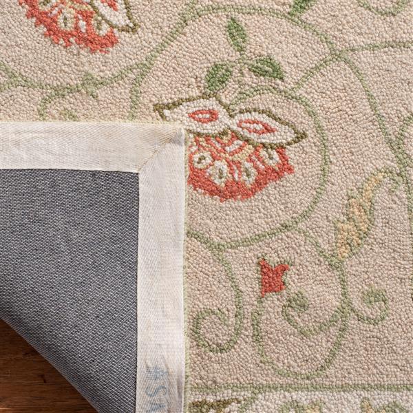 Safavieh Chelsea Floral Rug - 8.8' x 11.8' - Wool - Beige