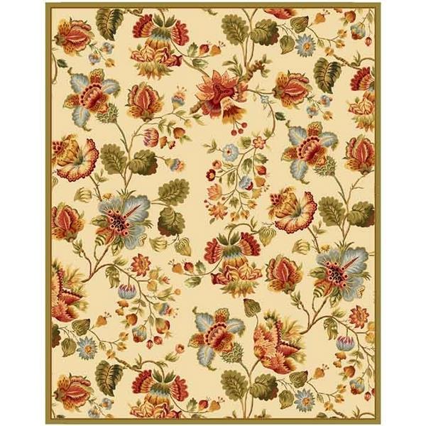 Safavieh Chelsea Floral Rug - 8.8' x 11.8' - Wool - Ivory