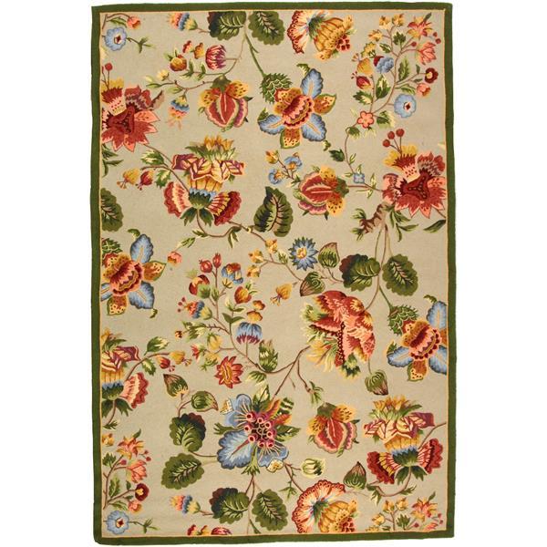 Safavieh Chelsea Floral Rug - 8.8' x 11.8' - Wool - Sage