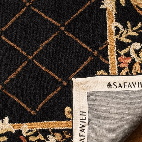 Safavieh Chelsea Floral Rug - 8.8' x 11.8' - Wool - Black