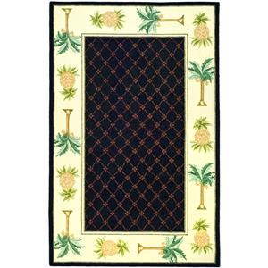 Safavieh Chelsea Border Rug - 8.8' x 11.8' - Wool - Black