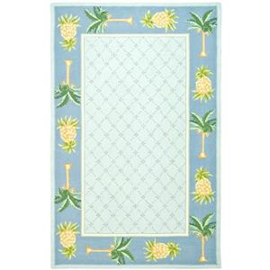 Chelsea Border Rug - 8.8' x 11.8' - Wool - Light Blue