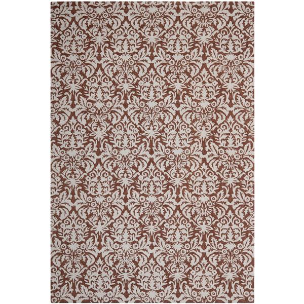 Safavieh Chelsea Damask Rug - 8.8' x 11.8' - Wool - Brown
