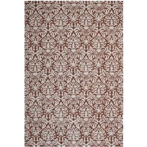 Chelsea Damask Rug - 8.8' x 11.8' - Wool - Brown