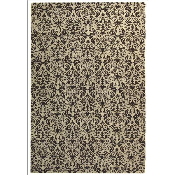 Safavieh Chelsea Damask Rug - 8.8' x 11.8' - Wool - Green