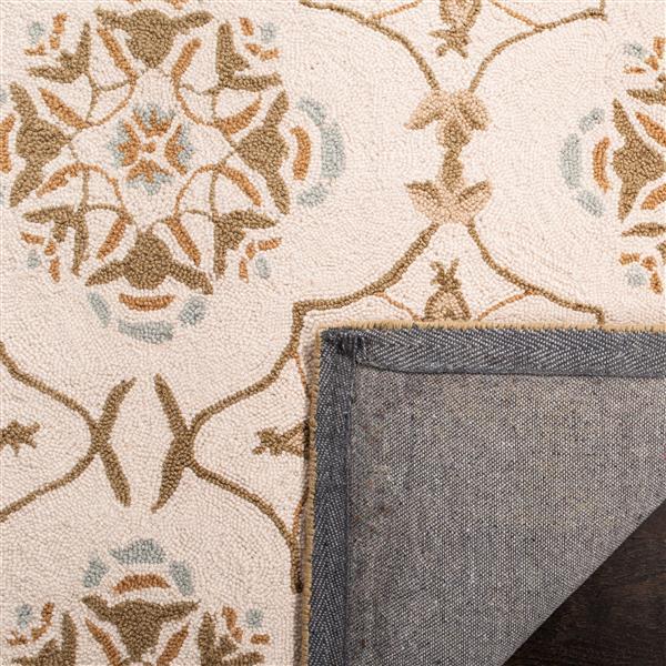 Safavieh Chelsea Trellis Rug - 8.8' x 11.8' - Wool - Ivory
