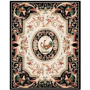 Chelsea Floral Rug - 8.8' x 11.8' - Wool - Black