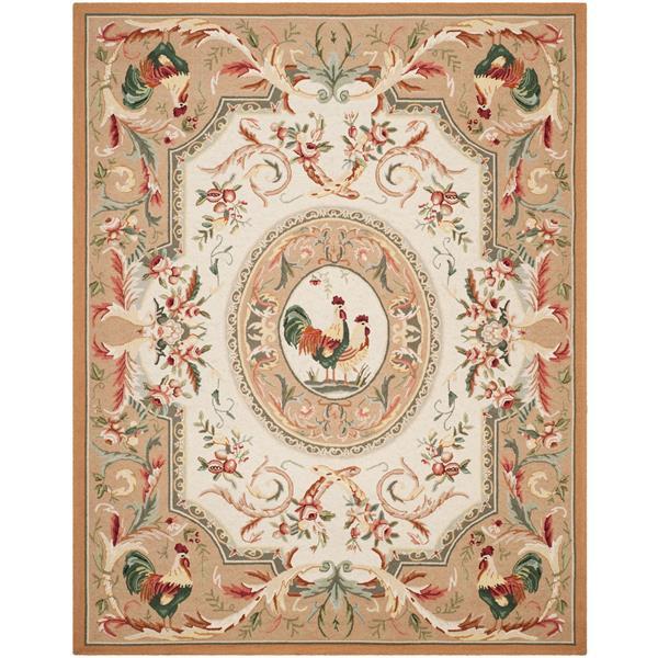 Safavieh Chelsea Floral Rug - 8.8' x 11.8' - Wool - Taupe