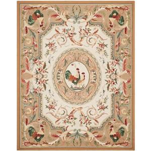 Chelsea Floral Rug - 8.8' x 11.8' - Wool - Taupe