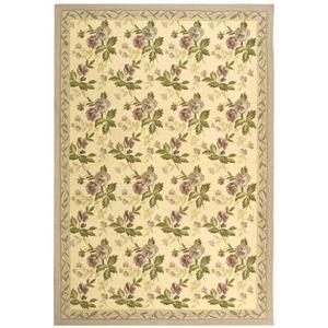 Chelsea Floral Rug - 8.8' x 11.8' - Wool - Ivory