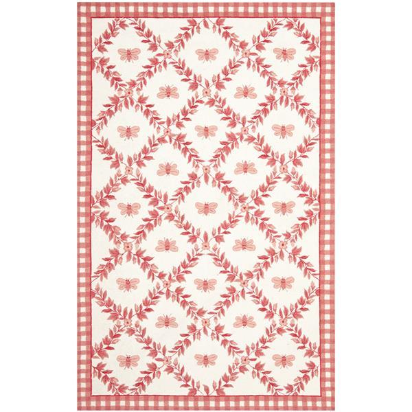 Safavieh Chelsea Floral Rug - 8.8' x 11.8' - Wool - Pink